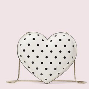 kate spade 3d cabana dot heart crossbody bag purse